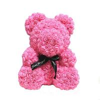 цветы подарки плюшевый медведь оптовых-ABEDOE Искусственный плюшевый мишка Цветочный медвежонок из пены Роза Тедди Коробки Свадьба Декор Цветы День Святого Валентина Подарочная роза
