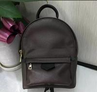 çocuklar için kaliteli okul çantaları toptan satış-Tasarımcı sırt çantası yüksek kaliteli çiçek baskı Deri Sırt Çantası Tarzı Çantaları Duffel Çanta erkek kız için hakiki deri okul sırt çantası