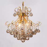 araña de cristal de plata moderna al por mayor-Plata moderna / oro transparente cognic lustres / araña de cristal de cristal de interior Luces Cristal Pendientes de la vida de la lámpara de habitaciones