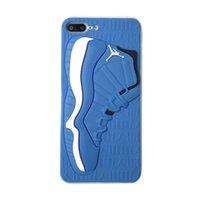 яблочный баскетбол оптовых-Роскошный дизайнерский чехол для телефона матовый Силиконовый 3D баскетбольная обувь шаблон крышка телефона спортивная резина матовая задняя крышка для iPhone 6 7 8 XS MAX XR