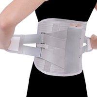 ingrosso pattini di calore della vita-Cinturino in tormalina con barra magnetica autoriscaldante in acciaio inossidabile Cintura allargata Cinturino lombare con bretella 3 pezzi T190816