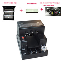 Wholesale uv printing machine for sale - Group buy Rotary Bottle print UV Flatbed printer Phone case PVC card UV printer machine