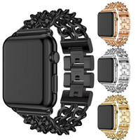 Wholesale fashion watches links online - Fashion Stainless Steel Band Strap for apple watch mm mm link bracelet Smartwatch Replacement Watchband for iwatch serise