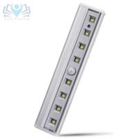 luzes de escada interior venda por atacado-HaoXin Sensor de Movimento Da Luz 8 LEDs Bateria Operado Sem Fio Motion Portátil Luzes Da Noite Do Armário Ímã Para Corredor Stairway