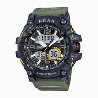 Wholesale waterproof military watches for men for sale - Group buy 2019 READ Sport Watches for Men Waterproof Digital Watch LED Large Dail Clock Man Montre Homme Military Big Men Watches Y200113