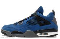 basketbol ayakkabıları yeşil renkte toptan satış-Yeni 4 Eminem Encore Saf Para Beyaz Çimento Royalty Bred Toro Bravo Thunder Yeşil Glow Ayakkabı 4 s Erkek Basketbol Sneakers Zapatos