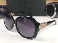 ingrosso gli occhiali da sole di disegno della farfalla-Nuovi Occhiali da sole donna Designer Occhiali con montatura a farfalla Mosaico con diamanti Design Elegante Occhiali da vista UV400 Protezione con scatola