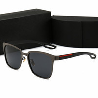 ranas gafas de sol al por mayor-Gafas de sol polarizadas de diseño de marca de alta calidad hombres mujeres gafas de sol de alta definición Espejo de rana anti UV Gafas de conducción con estuches y caja