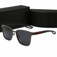 frösche sonnenbrille großhandel-Hochwertige Markendesign polarisierte Sonnenbrille Männer Frauen High-Definition-Sonnenbrille Anti-UV-Froschspiegel Driving Brille mit Fällen und Box