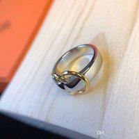 sacos de luxo da china venda por atacado-anel Designer 2019 edição limitada senhoras de luxo simples anel homens das e das mulheres de jóias de gelo de prata lisa anel saco de dedução círculo b