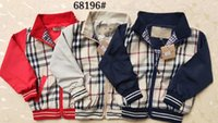 Wholesale baby girl solid tee resale online - 2019 new styles Brand kids clothes boy girl plaid jacket baby clothing children casual coat tee zipper coat girls cotton hoodie outwear