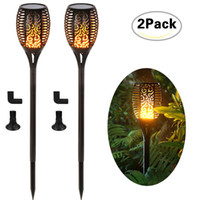 Wholesale flame lights for sale - Group buy Solar Torch Light Outdoor Lighting Waterproof Landsacpe Decoration Solar LED Torches Garden Lights with Flame Effect
