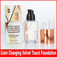 color de terciopelo al por mayor-TLM Velvet Touch Cambio de color Base Corrector Corrector de día Resplandor inteligente Reparador inteligente 35 ml Maquillaje TAILAIMEI