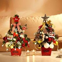 ingrosso luce decorativa coreana-Vendita caldi più nuovi 2019 Albero di Natale Set da tavolo Mini Albero di Natale insieme coreano Tatuaggi regalo inviato luci colorate 50 centimetri
