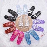 Wholesale run mix resale online - 2020 No box womens s slide sandals Color mixing high quality PVC hot Sandals Ladies popular flip flops