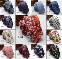 ingrosso legami floreali blu rosa-2019 cravatte da sposo cravatte moda modello di matrimonio stampato cravatta in cotone cravatte jacquard di alta qualità riunire cravatta uomini belli cravatte