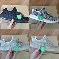 siyah kaplumbağa toptan satış-Stok X Kanye West V1 Klasik Korsan Siyah aytaşı oxford tan üveyik Erkekler Kadınlar tasarımcı Trainer Sneakers Boyut 36-46 Koşu Ayakkabıları ile