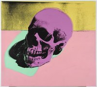 Wholesale skull art pictures resale online - Andy Warhol Art Painting Skull Home Decor Handcrafts HD Print Oil Painting On Canvas Wall Art Canvas Pictures