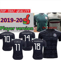 Wholesale world jersey mexico for sale - Group buy 2019 Gold Cup Mexico Player Version soccer jersey CHICHARITO H LOZANO RAUL Camisetas de futbol World Cup Mexico football shirts