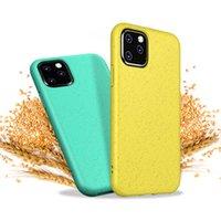 переработанные соломинки оптовых-Мягкий чехол для телефона ТПУ Пшеничная солома Экологичный чехол для сотового телефона для iPhone X XR XS Max Samsung Galaxy S10e Plus
