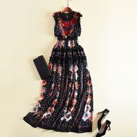 Wholesale puff sleeve dress for sale - Group buy 416 Runway Dress Spring Summer Dress Empire Sleeveless Embroidery Runawy Dress Women s OULAIDI