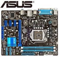 masaüstü anakart 1155 toptan satış-Asus P8H61-M LX PLUS Masaüstü Anakart H61 Soket LGA 1155 i3 DDR3 16G uATX UEFI BIOS Orjinal Anakart Kullanılmış