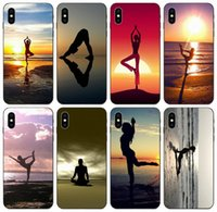 Wholesale yoga pro case resale online - TongTrade Stylish Yoga Sun Salutation Case For iPhone Pro X XS Max s s Samsung Note Honor C Pro Sony Xperia E5 TPU Case