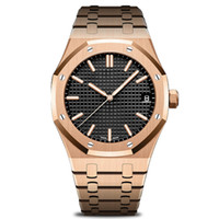 Wholesale luxury watches for sale - aaa luxury mens automatic mechanical watches classic style mm stainless steel Super A quality wristwatches Rose Gold Royal Oak Watch