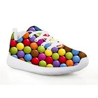 nuevo calzado de futbol al por mayor-HYCOOL Zapatillas de fútbol para niños Chicos coloridos estampados de zapatillas de deporte para niñas Deporte Zapatillas de correr Calzado Niños Fútbol Nuevo