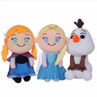 Wholesale 3 Styles Snow Queen II Plush Toys cm inches Snowman Princess Movie Stuffed Doll Kids Toys Christmas Gifts C2104