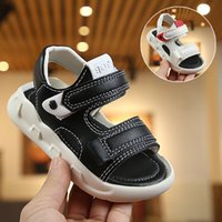 Wholesale sandal shoes for kids boys for sale - Group buy 2020 Summer Boys Leather Sandals for Baby Flat Children Beach Shoes Kids Sports Soft Non slip Casual Toddler Sandals years