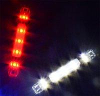 luces de advertencia envío gratis al por mayor-Bicicleta de montaña impermeable Luz de advertencia de plástico Respetuoso del medio ambiente Fácil de instalar Quakeproof Ahorro de energía Anti desgaste Envío gratis 4 7hyI1
