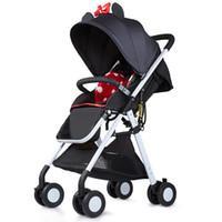 ingrosso i nuovi passeggini del bambino di arrivo-Passeggino super leggero nuovo arrivo / carrozzina del bambino, carrello portatile del bambino, può sedersi può mentire, trasporto libero