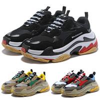 Wholesale basketball shoes s for sale - Group buy Best Quality Triple S Paris FW Platform Men Women Sneakers Balck White Trainers Cheap Fashion Luxury Designer Shoes