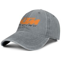 Wholesale motorcycle racing hats for sale - Group buy Womens Mens Flat along Adjustable KTM Racing Motorcycle logo Hip Hop Cotton Sun Protection Hats Golf Cadet Army Caps Airy Mesh Hats For Men