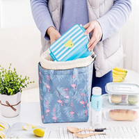 Wholesale kids girls designer totes for sale - Group buy Waterproof lunch bags tote portable lunch box bag Travel Picnic Food Lunch box for Women Girl Kid Large Capacity Bag style LXL12