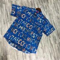 ingrosso camicie alfabeto-Camicia di seta degli uomini di ss dell'alfabeto delle donne 1s: 1 magliette superiori della maglietta di modo di alta qualità