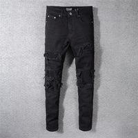jeans tamanho grande designer venda por atacado-Novo Calças de brim dos homens de Verão 2019 Designer de Jeans Leve dos homens Tamanho Grande Calça Jeans de Luxo Casuais Clássico Em Linha Reta Jeans Denim Designer