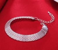 encantos prata al por mayor-Pulsera de la manera suave correa de reloj pulsera del encanto de los brazaletes de joyería fina de las mujeres Pulseiras De Prata
