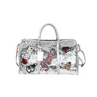 bolsas de engranajes al por mayor-Mujeres lentejuelas bolsa de viaje de los hombres de gran capacidad de fin de semana bolsas de ropa llevar en la bolsa de equipaje maleta maleta organizador engranaje bolso