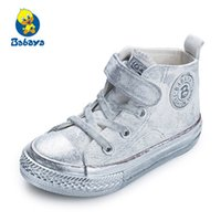 Wholesale white canvas shoes for children for sale - Group buy Children shoes girls sneaker Spring Autumn Candy color Lace Up Child canvas shoes Boys High White Kids shoes for girls T190916