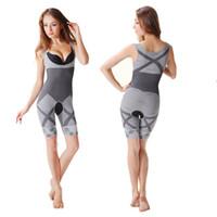 bambu vücut daha ince toptan satış-Doğal Bambu Zayıflama Vücut Suit Şekillendirici Firma Kontrol Anti Selülit İç Vücut Şekillendirici Bel Eğitim İç RRA720