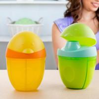 gelbe babyflaschen großhandel-Neue 3 Grid Getrennt Milchpulverspender Lebensmittelbehälter Baby Lagerung Fütterung Box Reise Tragbare Muttermilchbehälter Für Kinder