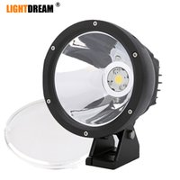 Wholesale round tractor lights for sale - Group buy 4x4 Off road Led Work Driving lights quot Inch Round W Single Cob Led offroad lights for Car Truck SUV ATV Tractor transports