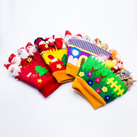 Wholesale glove puppet cartoon resale online - Cute Cartoon Doll Hand Thumb Glove Puppets Innovative Fabric Miniature Toys Christmas Decorations Baby Education Toy X4YD