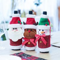 Wholesale clothing for wine bottles for sale - Group buy Christmas Wine Bottle Decor Santa Claus Snowman Deer Bottle Cover Clothes Kitchen Decoration for New Year Xmas Dinner Party
