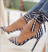 босоножки в стиле римского стиля оптовых-Женские сандалии, Женские сандалии на высоком каблуке, звезда плед стиль римские ремни высокие каблуки сандалии