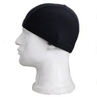 chapéu desportivo feminino venda por atacado-Verão das mulheres dos homens durável alta elástica sporty touca de banho chapéu de natação das mulheres terno c19040302