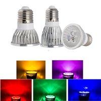 mr16 led lampara de luz regulable al por mayor-las luces LED de alta potencia de las bombillas E27 E14 MR16 regulable GU5.3 GU10 llevó el punto llevado lámparas downlight