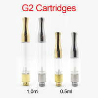 Wholesale vaporizer cartridges for sale for sale - Group buy Hot Sale Vape Cartridges Gold Silver G2 Atomizer ml ml Wick Coil Cartridge Glass Tank Dab Wax Vaporizer For Thread Battery